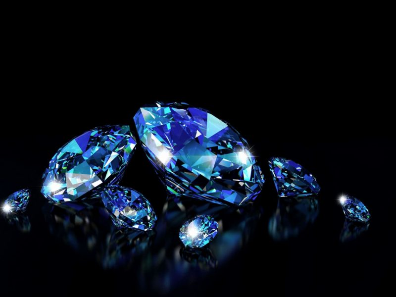 blue diamond wallpaper Best of 3D Blue Diamonds Ideas